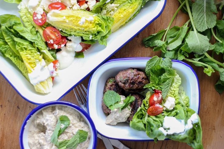 Lamb kofte, baba ghanoush and barbeques