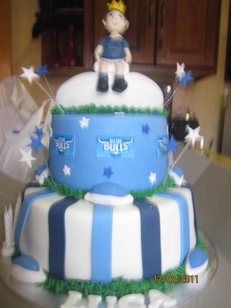 {Blue Bulls cake}