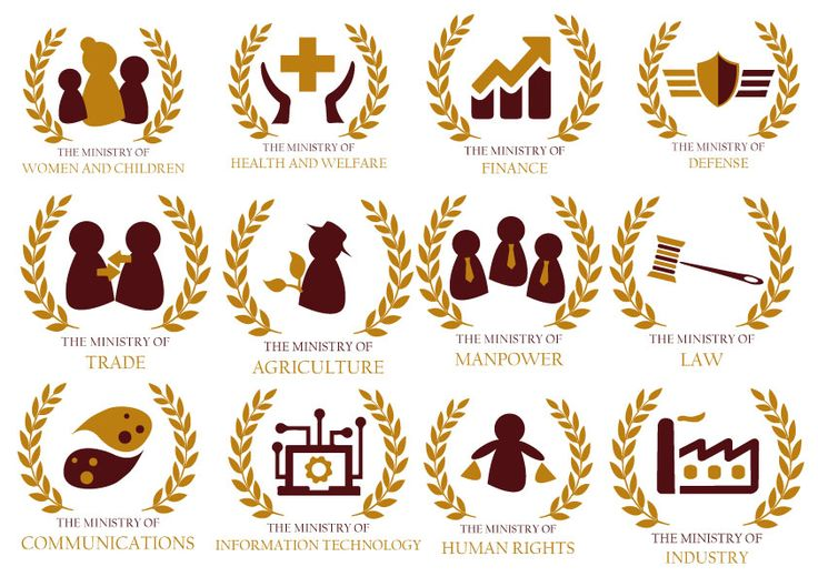 A fun project held by my lecturer to renew ministries' logos. I brought modern and elegant mood here.
