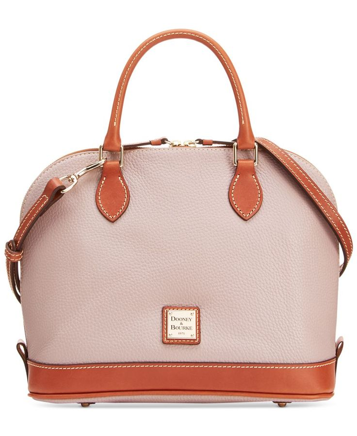 Dooney & Bourke Pebble Zip Top Satchel - Dooney & Bourke - Handbags & Accessories - Macy's. To blend my greys and browns this fall/winter.