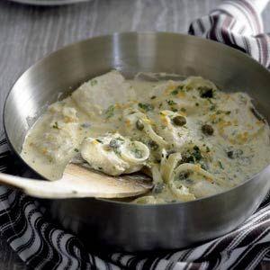 Recept - Vis met kappertjes en cr�me fra�che - Allerhande