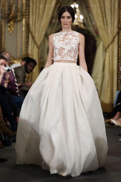 Vestidos de novia para mujeres con poco pecho 2017: ¡45 diseños que te enamorarán! Image: 40