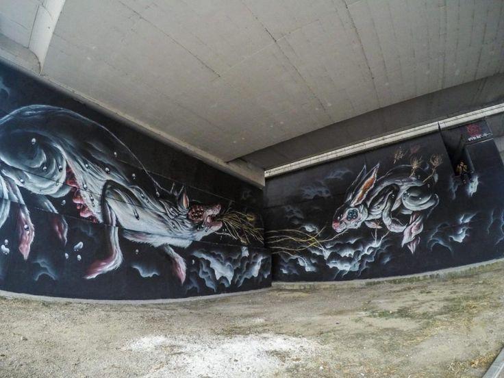 Veks Van Hillik (Francia) ha realizzato un intervento murale sul sottovaso di Boccea per il progetto di Anas GRAArt. L'intervento murale è stato curato da David Diavù Vecchiato e diretto dall'associazione MURo