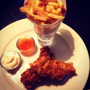 Crispy chicken and fries