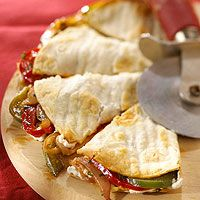 Vegetable & Cream Cheese Quesadillas.  I will add green chiles  and fresh garlic though ;)