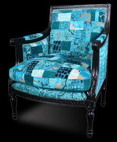 Patchwork chair from Ginny Avison Designs Ltd