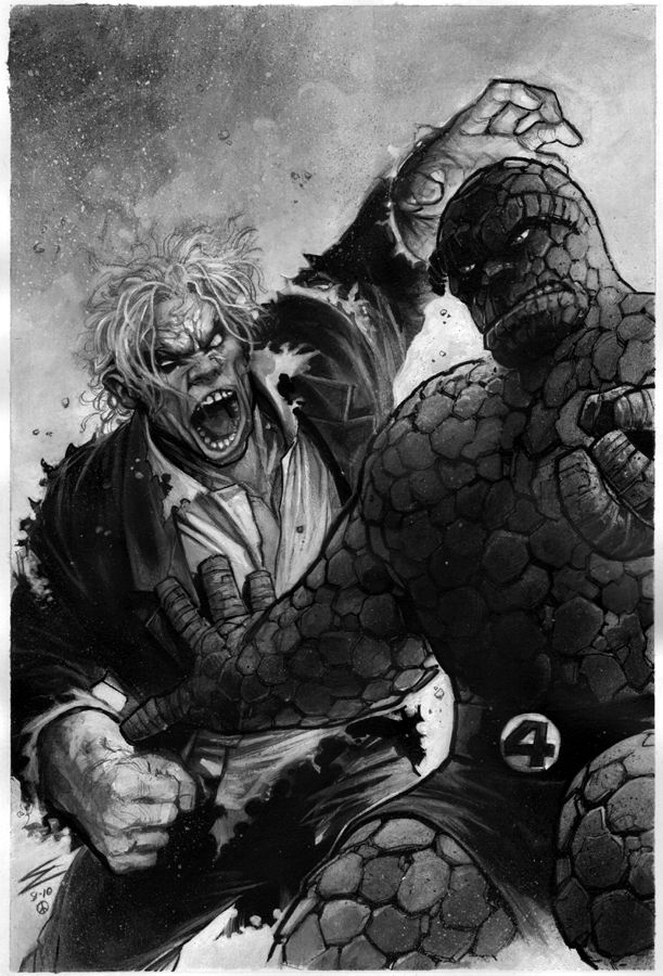 Solomon Grundy vs. The Thing by Eddy Newell