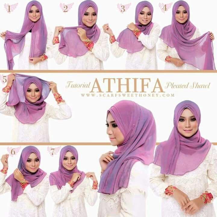 Pleated hijab.