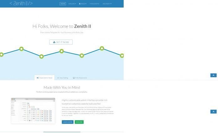 ZenithII - #FREE responsive #Joomla! 3.3 template with lots of outstanding #features.  For #business #portfolio websites.