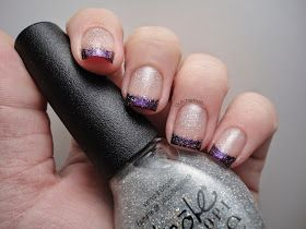 Dutchie Nails: Purple Funky French