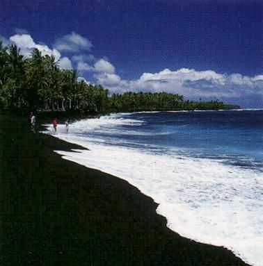 Black sand beaches in hawaii places to go things to do Black sand beach hawaii
