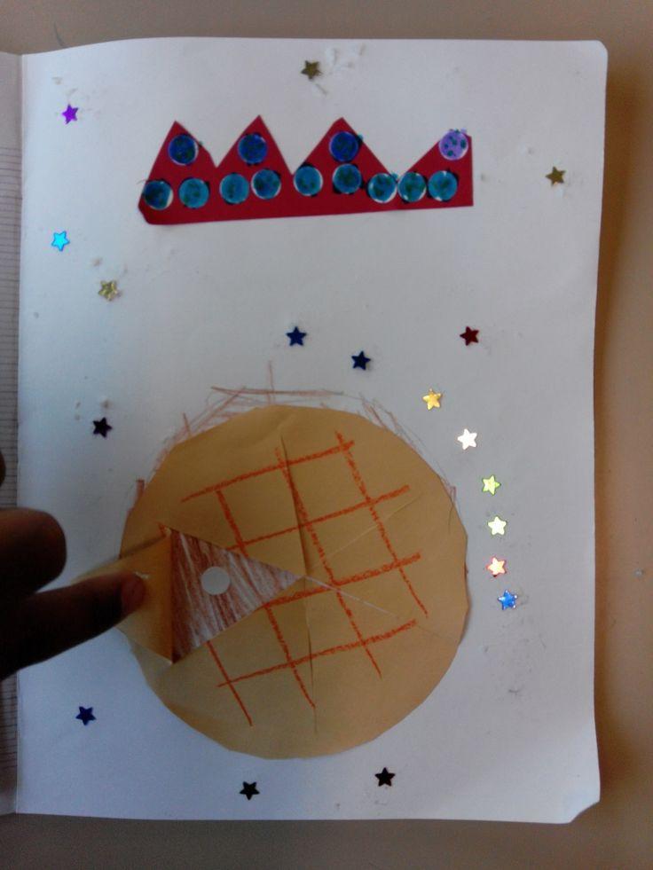 Illustration d'un poème sur la galette. Cacher la feve !