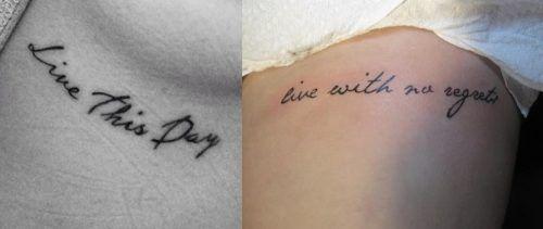 Tatuajes con frases en las costillas