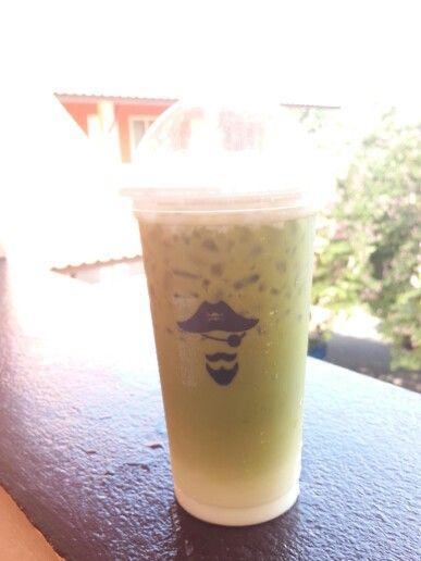 ice latte green tea