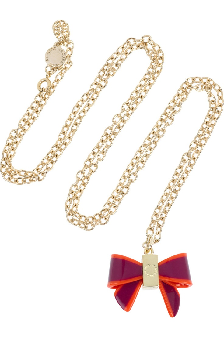 MARC BY MARC JACOBS  Jacobson brass and acetate bow necklace