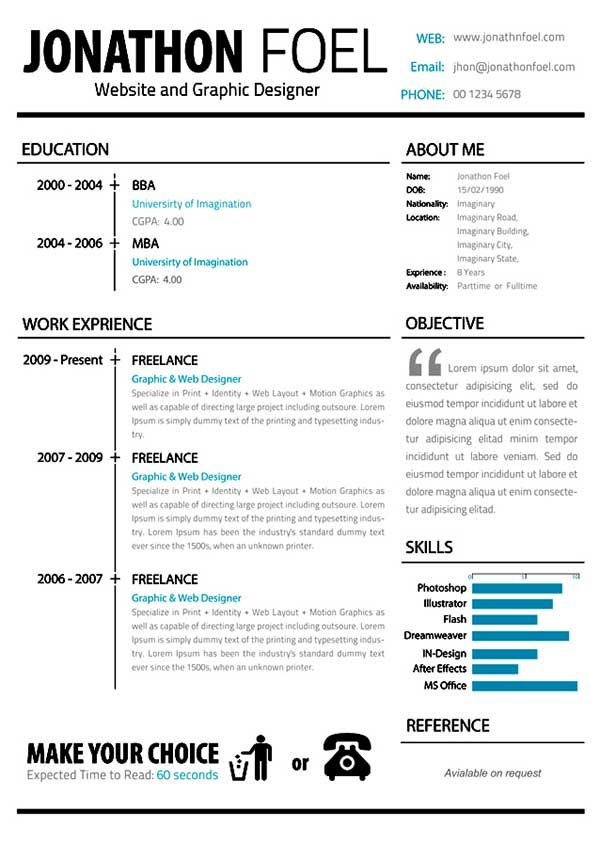 34 best CVs images on Pinterest Curriculum, Cv template and Cv - resume or curriculum vitae