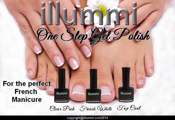 illummi One Step Gel Polish - French Manicure. Perfect everytime.