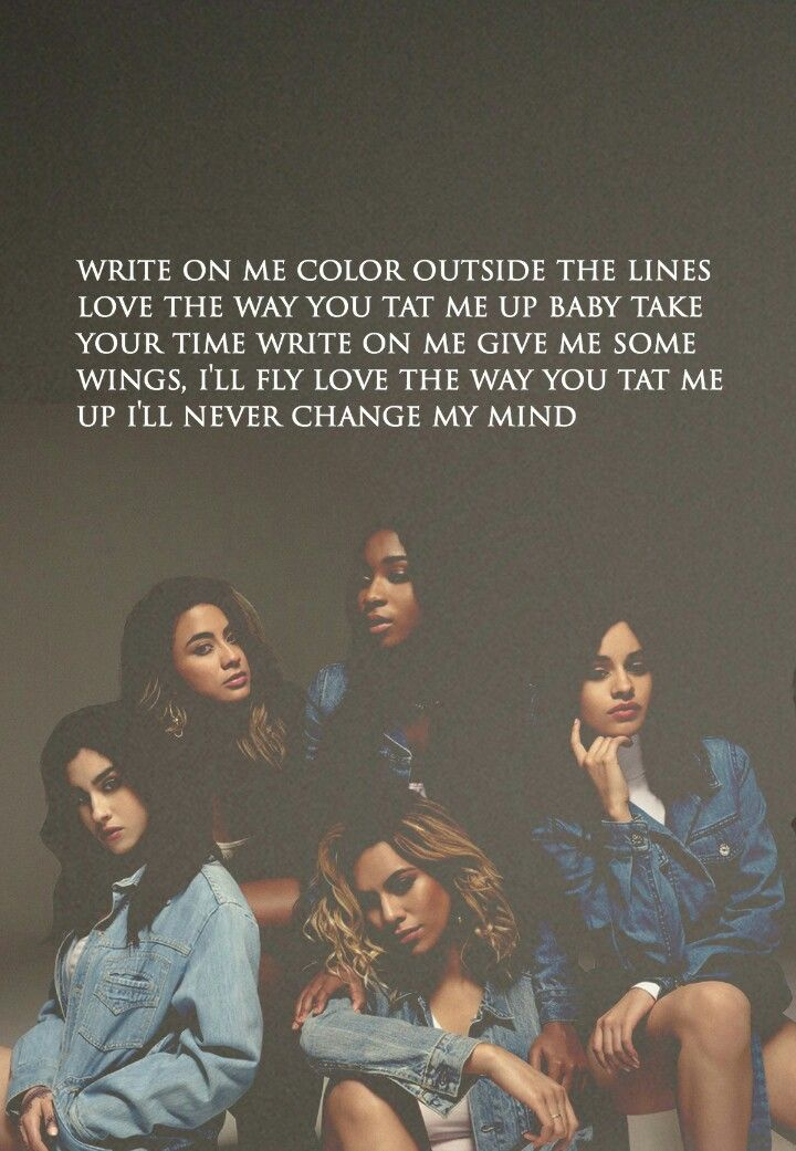 Fifth Harmony // Write On Me