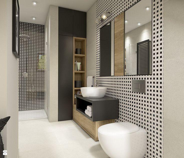 łazienka z prysznicem; Dom w Milanówku - zdjęcie od WERDHOME - Łazienka - Styl Skandynawski - WERDHOME
