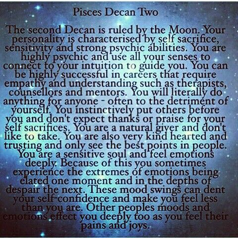 Pisces Zodiac Sign: Decan Two (2) | #pisces #zodiac #astrology