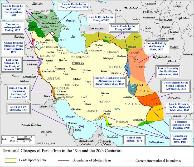 Iranian Territory Changes And Centuries