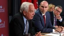Sep 26, 2015 3:17PM EDT - The Liberal party released the full costing of its election platform Saturday, and pledged a return to balanced budgets by the end of four years. Liberal candidate John McCallum says deficits are needed now to create jobs and growth.