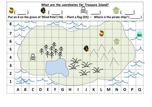 A Basic Treasure Map Activity Useful For Teaching Co