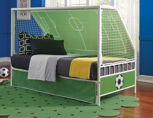 Score Big With This Soccer Theme Childu0027s Bed! Goal Keeper Daybed   Grand  Home Furnishings
