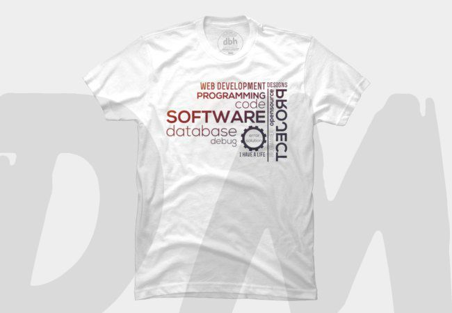 Programmer T-shirt: Typography Programmer. Design by DM