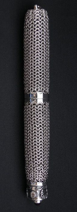 NAKAYA silver maille fountain pen prototype