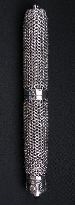 NAKAYA silver maille fountain pen prototype