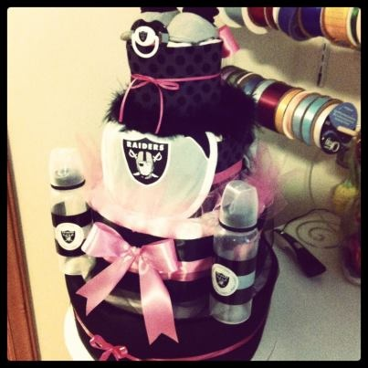 Raiders Diaper Cake Baby Shower Ideas New Baby