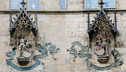 Marsilius und Agrippa am Kölner Gürzenich   Köln