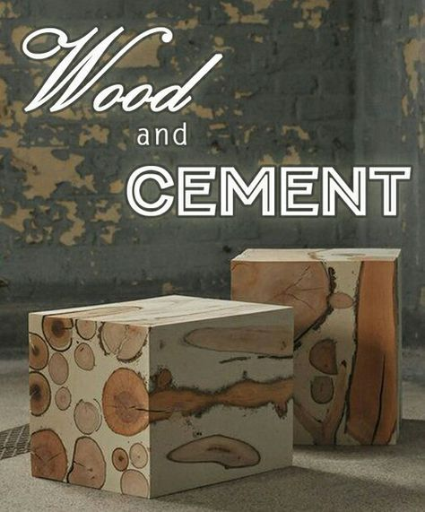 Blocks wood and cement