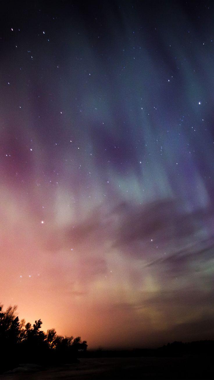Sky Aurora Night Stars Wonderful  #iPhone #6 #plus #wallpaper