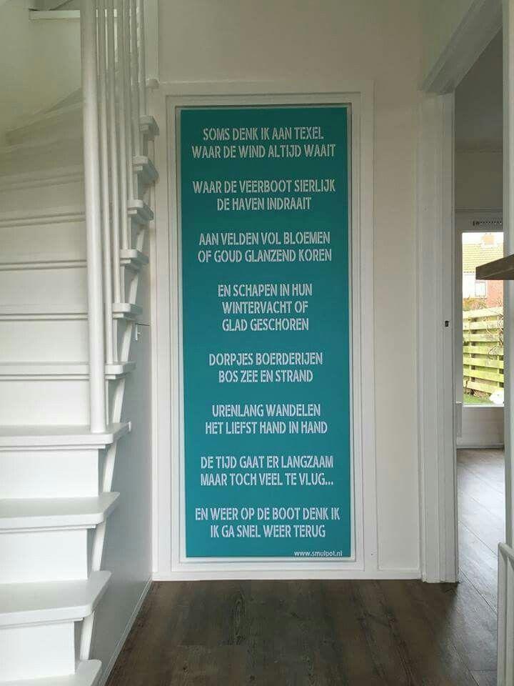 Gedicht op een deur via De Smulpot Texel