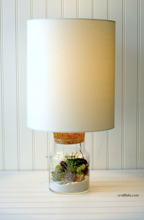 This DIY Terrarium Lamp is a great project for small spaces. Adding a little light, and a little green and an easy way to brighten up your home. You will find that adding air plants and moss to you…