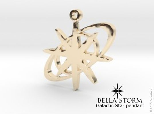 Galactic Star 14K Gold pendant. www.bellastorm.ca Made to order Designer Jewelry.