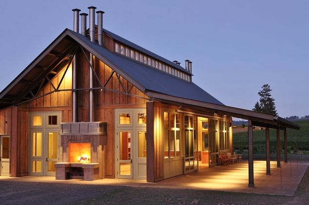 Contemporary barn home