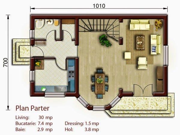 Arhitectura ,proiecte case,design de interior,firme constructii,amenajari interioare,: Proiecte case 3 dormitoare si mansarda