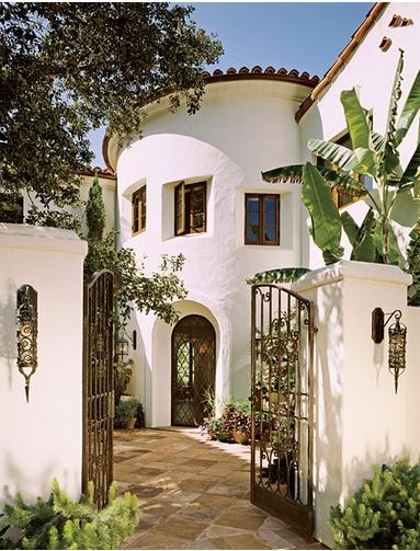 36 best images about hacienda entries on pinterest for Spanish revival exterior paint colors