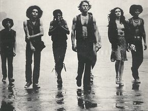gang members. we've been talking about the look falling somewhere between here and the full-out Mad Max stuff. The Warriors