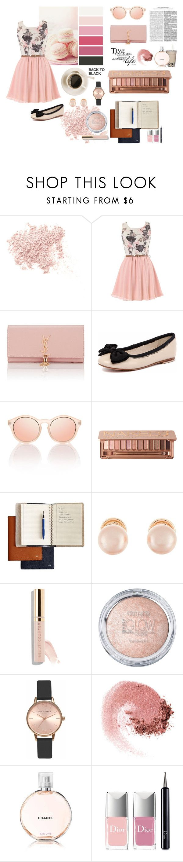 """""""Just pink in my life"""" by fantalisa on Polyvore featuring moda, Bare Escentuals, Yves Saint Laurent, Human Premium, Urban Decay, Kenneth Jay Lane, Olivia Burton, NARS Cosmetics e Christian Dior"""