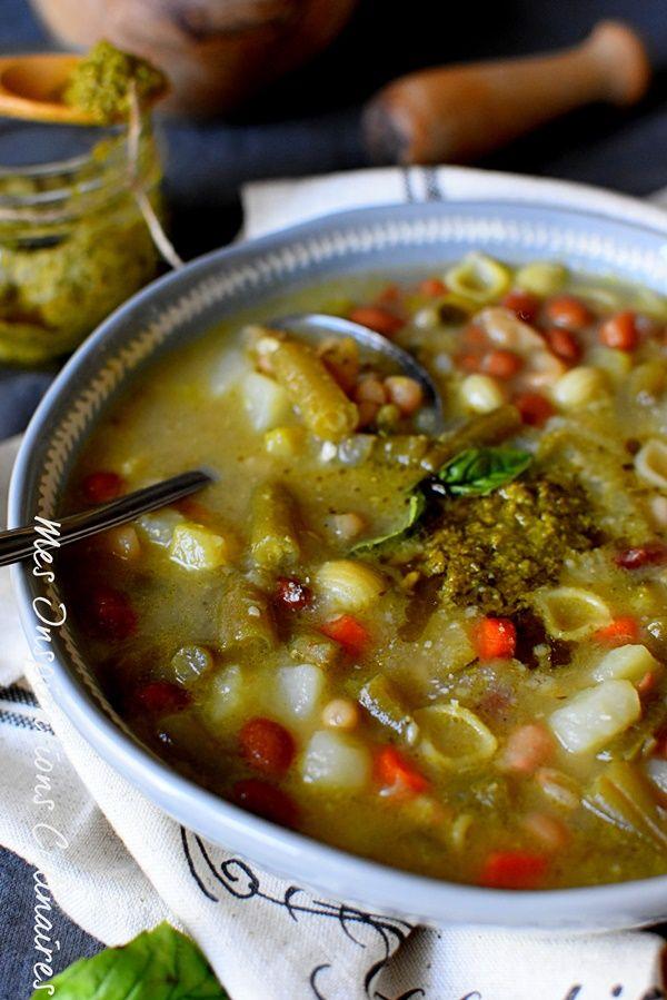 Soupe au pistou traditionnelle au basilic