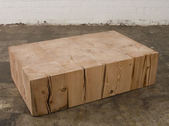 coffee table laminated block. oregon