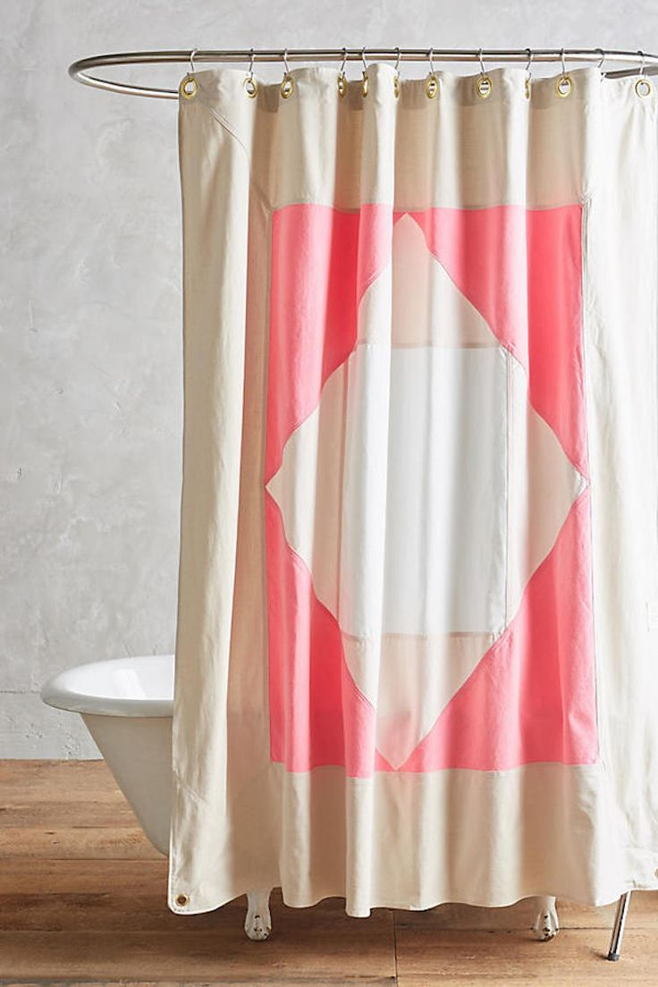 50 off vintage shower curtain pink sheer shower curtain shabby - 12 Beautiful Shower Curtains For Every Budget