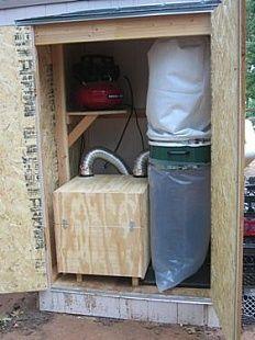 External Dust Collection Closet