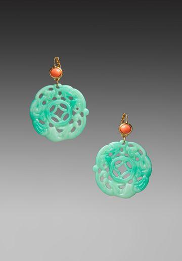 pretty jade earrings
