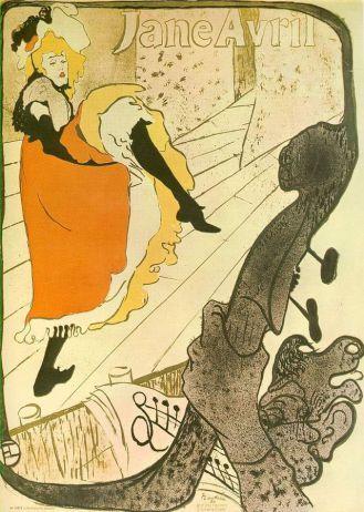Toulouse Lautrec, Avril (Jane Avril) 1893