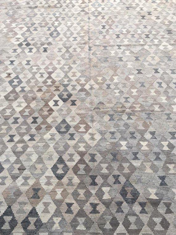 10.6 X 13 ft Vintage Shahi Turkish Kilim,Vintage Labijar Fine quality Flat Weave Turkish Kilim Area